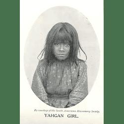 1910 Yahgan Girl, Photo, South American Missionary Society