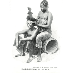 1910 Hairdressing In Africa, Photo By J Brocherel, Aosta, Italy