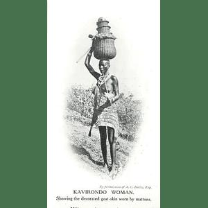 1910 Kavirondo Woman Showing Decorated Goatskin