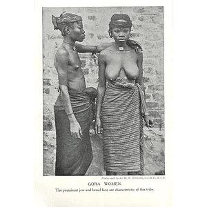 1910 Gora Women, Prominent Faw, Broad Face Characteristics