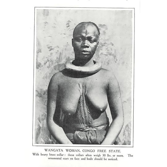 1910 Wangata Woman, Congo Free State Wearing Heavy Brass Collar