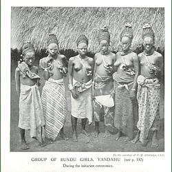 1910 Group Of Bundu Girls,yandahu, During Initiation Ceremonies