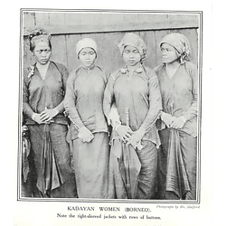1910 Kadayan Women In Borneo Tied Sleeved Jackets Rows Of Buttons