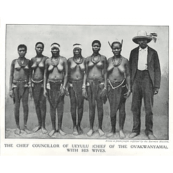 1910 Chief Of The Ovakwanyama, With His Wives