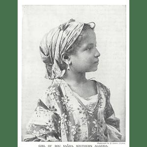 1910 Girl Of The Bou Saada, Southern Algeria