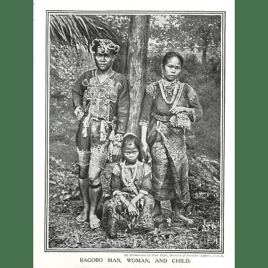 1910 Bagobo Man, Woman And Child