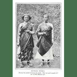 1910 Betsileo Women, Showing Method Of Draping Lamba