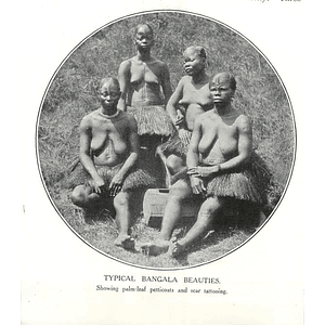 1910 Typical Bangala Beauties Showing Palm Leaf Petticoats