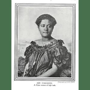 1910 Adi Cakahan, Fijian Woman Of High Rank