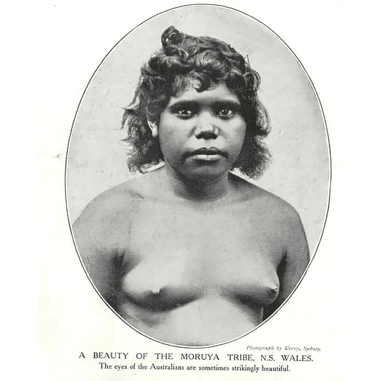 1910 Beautiful Woman From The Moruya Tribe New South Wales