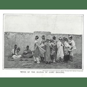 1910 Wives Of The Sultan Of Lamu Dancing, East African Protectorate