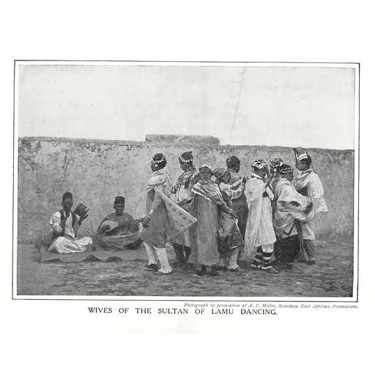 1910 Wives Of The Sultan Of Lamu Dancing, East African Protectorate