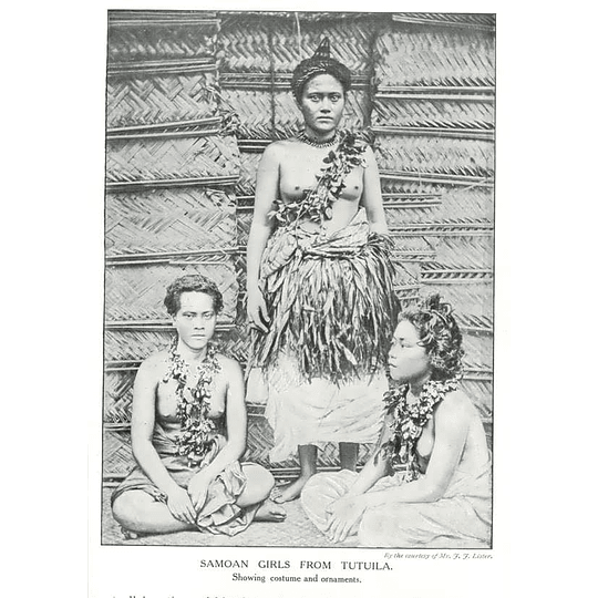 1910 Samoan Girls From Tutuila, Showing Costume And Ornaments