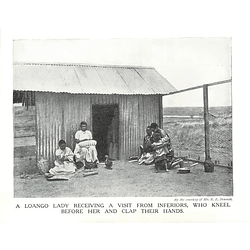 1910 A Loango Lady Receiving Visitors Who Kneel And Clap