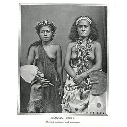 1910 Girls From Samoa Showing Costumes And Ornaments