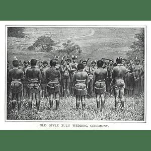 1910 Old-style Zulu Wedding Ceremony