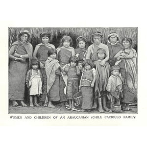 1910 Women And Children Of Araucanian Family In Chile