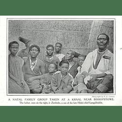 1910 Natal Family Group Near Bishopstowe, Zatshuke, Son Of Chief Langalibalele