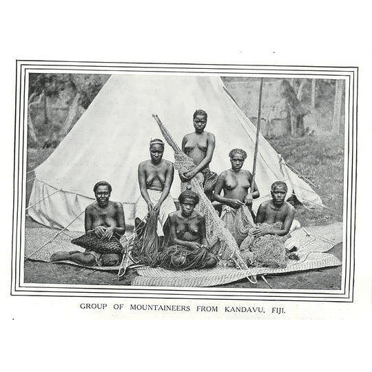 1910 Group Of Mountaineers From Kandavu In Fiji