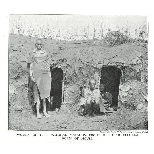 1910 Women Of The Pastoral Masai In Front Of Peculiar Housing