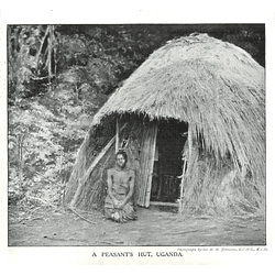 1910 Peasant Woman Outside Her Hut In Uganda