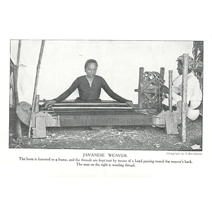 1910 Javanese Woman Weaving, Man Winding Thread