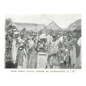 1910 Mendi Women Playing Gourd Rattles