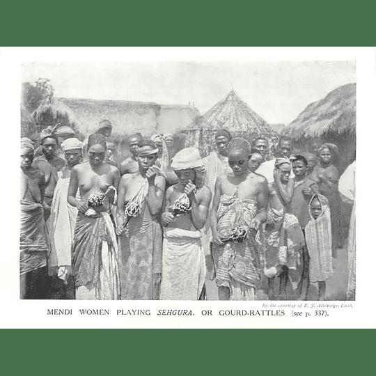 1910 Mendi Women Playing Gourd Rattles