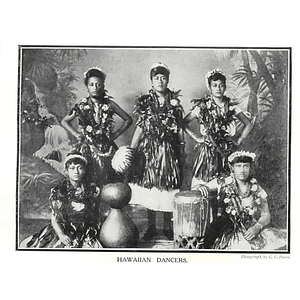 1910 Group Of Five Hawaiian Dancers