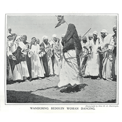 1910 Wondering Bedouin Woman Dancing