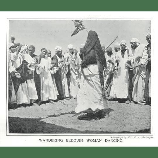 1910 Wondering Bedouin Woman Dancing