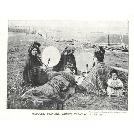 1910 Mapuche Medicine Women Treating A Patient