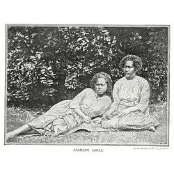 1910 Two Samoan Girls Resting