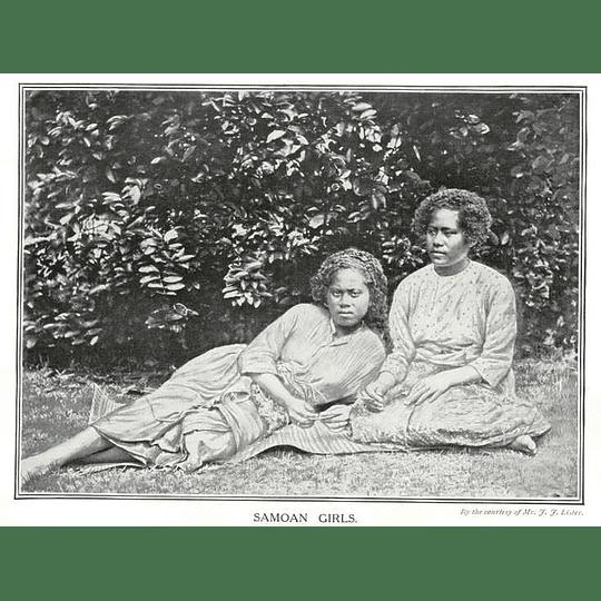 1910 Two Samoan Girls Resting