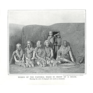 1910 Women Of Pastoral Masai Showing Coils Of Telegraph Wire Ornaments