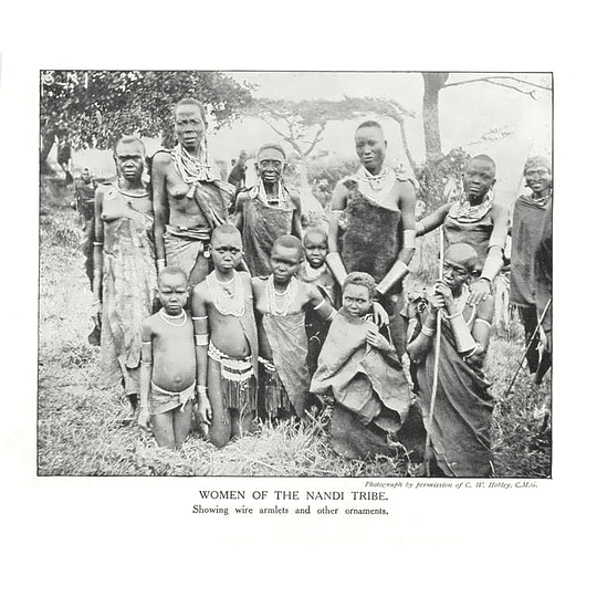 1910 Women Of The Nandi Tribe Showing Wire Armlets And Ornaments