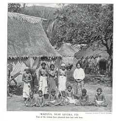 1910 Waitova Near Levuka In Fiji To Women With Lime Plaster Hair