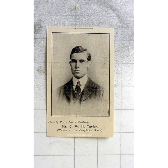 1900 Mr Cw Taylor Winner Of The Colquhoun Sculls