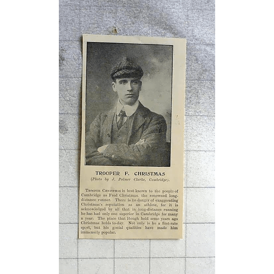 1900 Trooper Fred Christmas, Cambridge Long-distance Runner