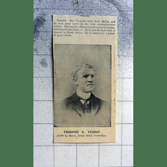 1900 Trooper Sid Tebbit From Milton Village Cambridgeshire