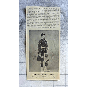 1900 Lance Corporal Heal Of The Black Watch, Loyal Suffolk Hussars