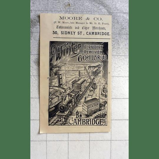 1900 Fw Moore, Tobacconists Cigar Merchants Sidney Street Cambridge