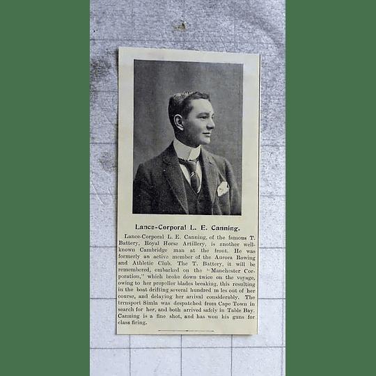 1900 Lance Corporal Le Canning, Cambridge Man, Royal Horse Artillery