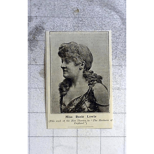 1900 Miss Rosie Lewis, New Theatre, Mariners Of England