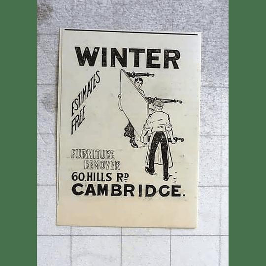 1900 Winter, Furniture Remover, 60 Hills Road Cambridge
