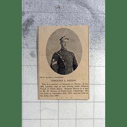 1900 Sgt A Barton, 12th Lancers, South Street Cambridge