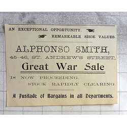 1900 Alphonso Smith St Andrew Street, Cambridge, Great War Sale Proceeding
