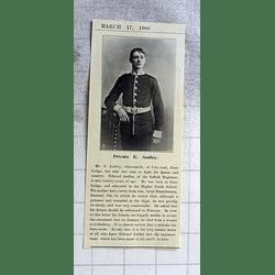 1900 Edward Audley Suffolk Regiment Wounded Bloemfontein