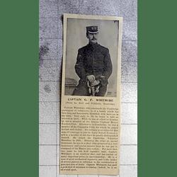 1900 Captain Gf Whitmore Commands Cambridge Contingent Of Volunteers