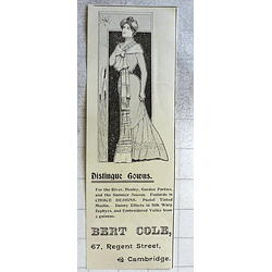 1900 Distinctive Gowns Provided By Bert Cole Regent Street Cambridge